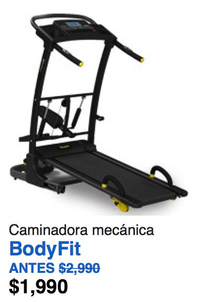 Walmart en línea: Caminadora mecánica BodyFit de $2990 a $1990