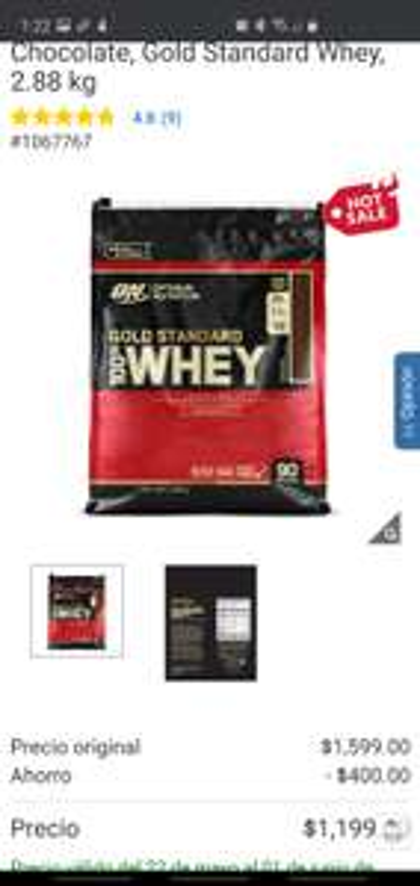 Costco proteina Whey 2.88 KG Chocolate/Vainilla