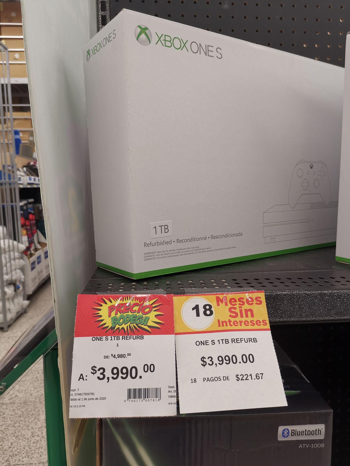 Bodega Aurrera XBOX ONE S Reacondicionado