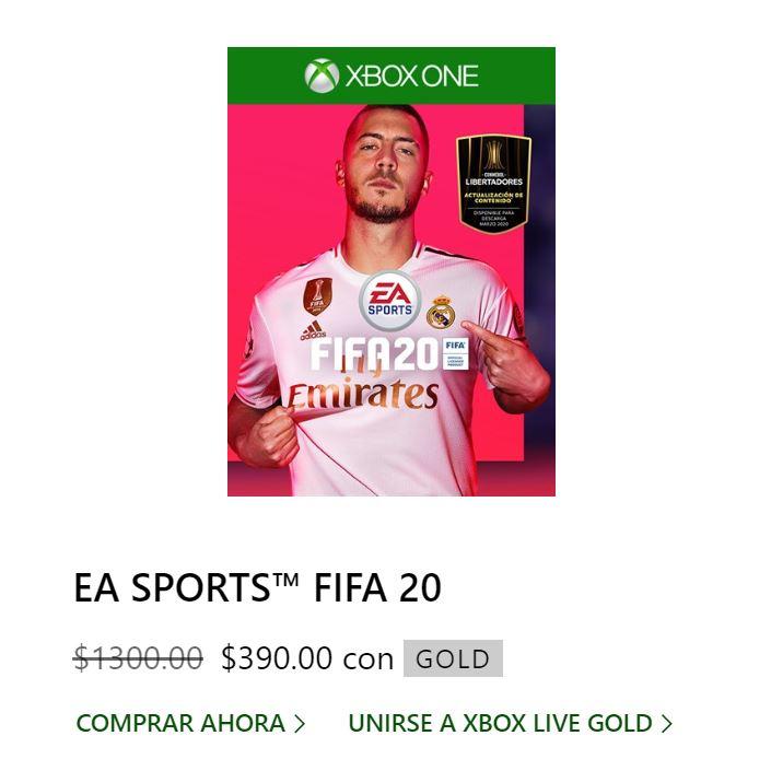 MICROSOFT STORE: FIFA 20 XBOX ONE CON GOLD