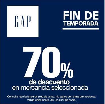 GAP: 70% de descuento en mercancía seleccionada