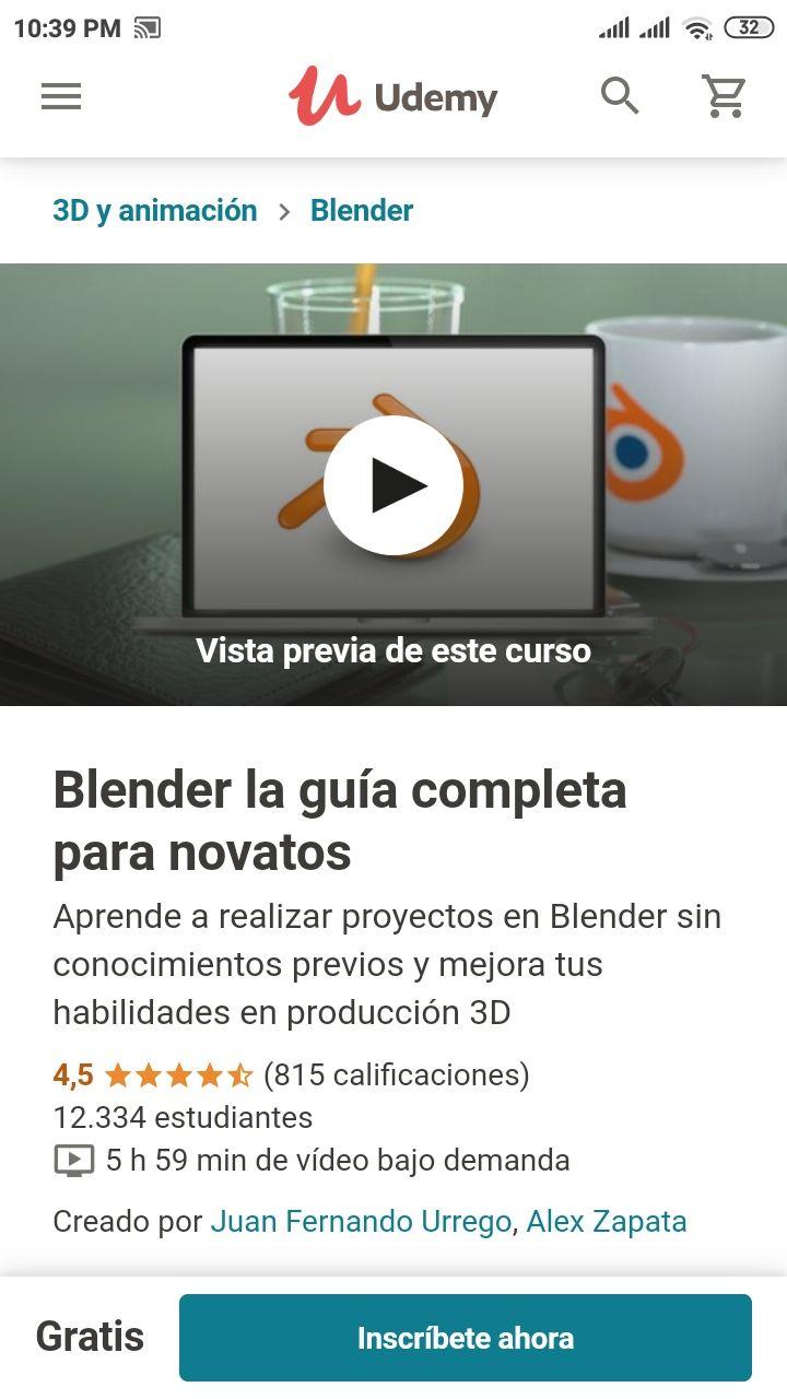 Udemy: Curso de Blender para novatos