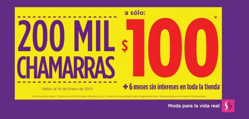 Suburbia: chamarras a $100