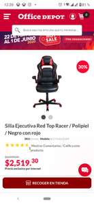Office Depot - Silla tipo racing