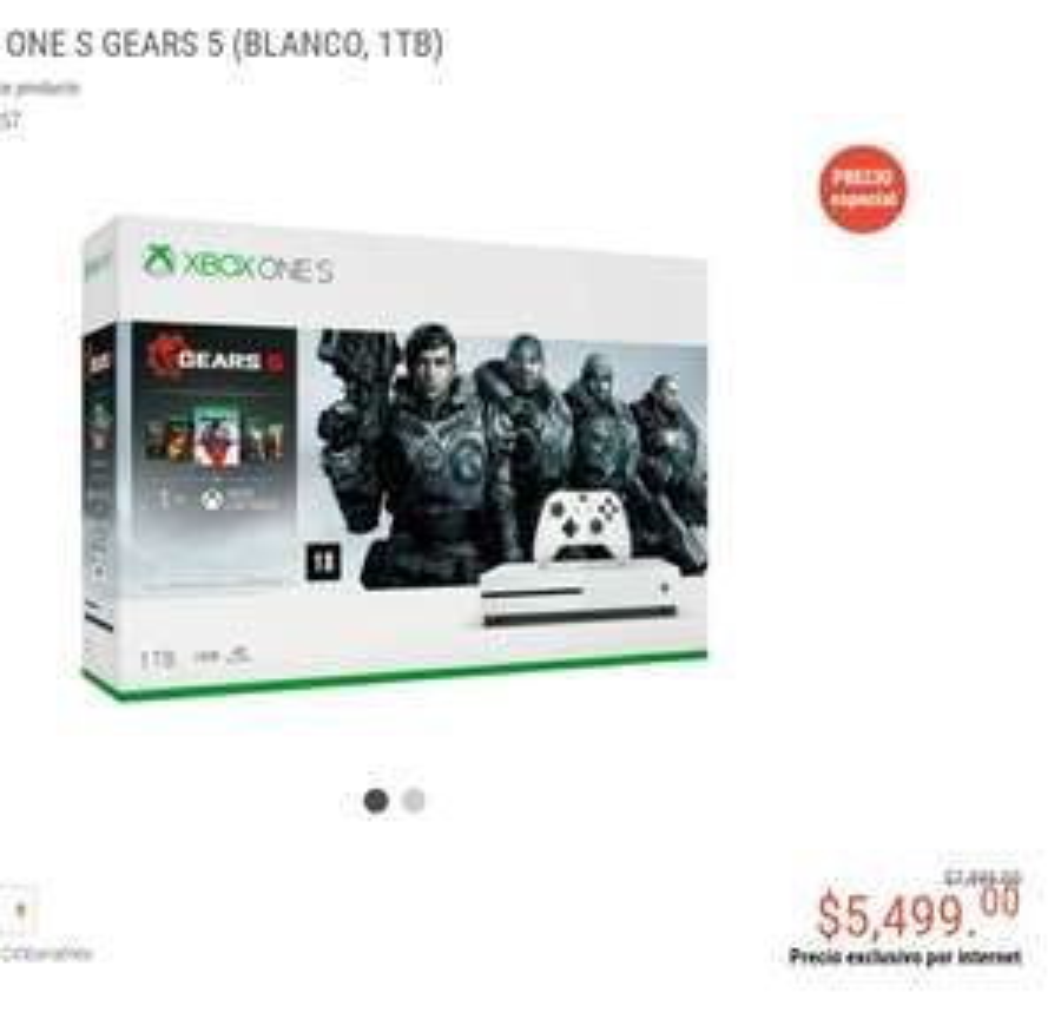 Radioshack: CONSOLA XBOX ONE S GEARS 5 (BLANCO, 1TB) + promoción bancaria