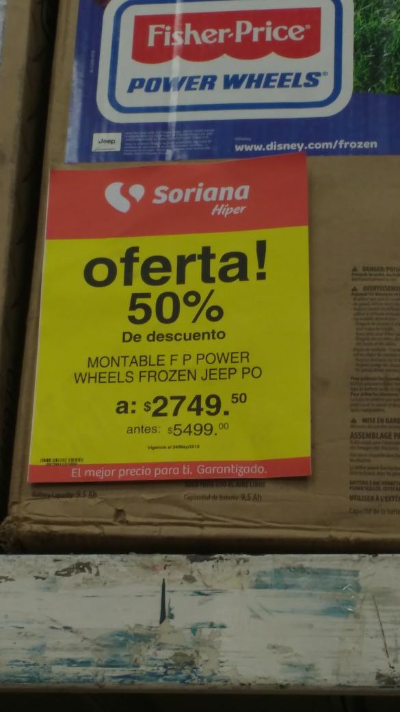 Soriana El Salado CDMX: 50% de descuento en todos los montables electrico