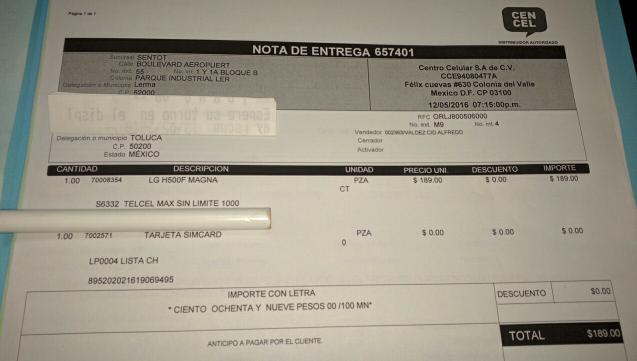 TELCEL: LG Magna a $189 en plan de Telcel max 1000 a 12 meses - Región 9