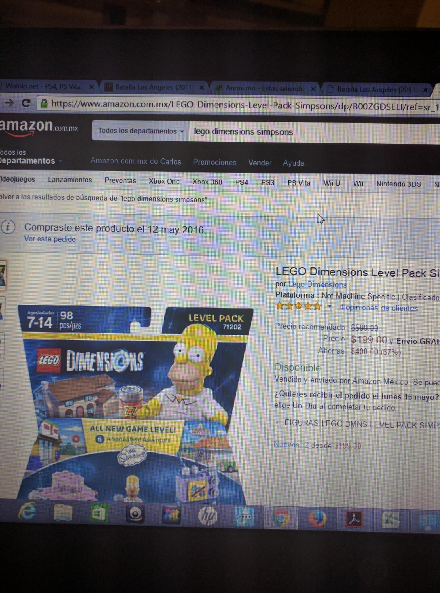 Amazon México: Level pack Simpsons Lego Dimensions hasta ahora el precio más bajo.