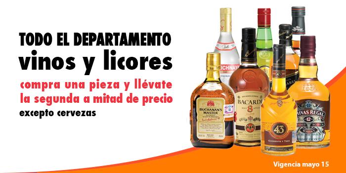 Comercial Mexicana: 2x1 y medio en todo el departamento de vinos y licores