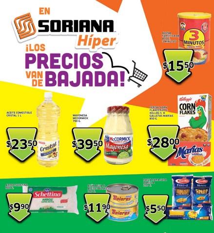 Folleto Soriana: 30% de descuento en ropa interior Hanes, 3x2 en tazas de cerámica y +