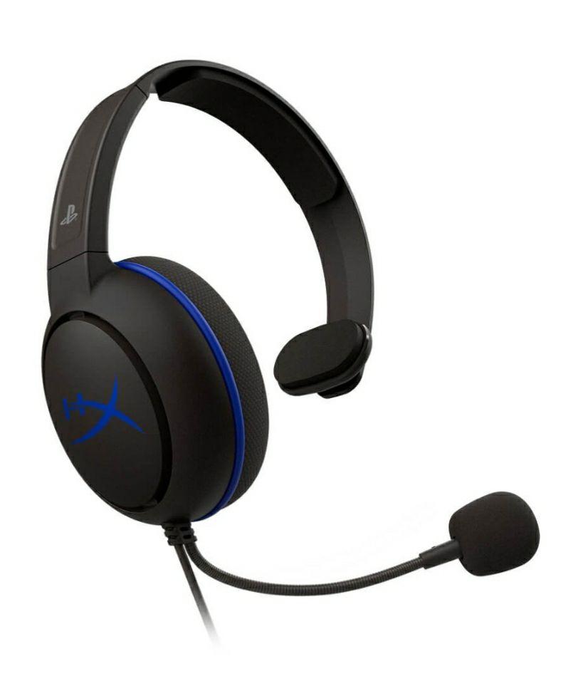 Best Buy: HyperX - Audífonos alámbricos Cloud Chat con licencia oficial PS4 - Negro/Azul