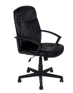 Office Depot: Silla Ejecutiva Red Top NY / Polipiel / Negro