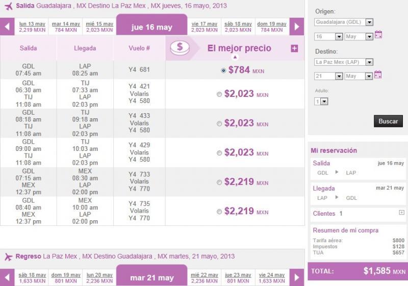 Volaris: rutas nacionales desde $799
