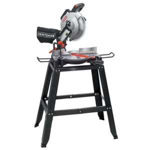 "Sears: Sierra ingletadora + base de metal Craftsman 10"" 15 amp"