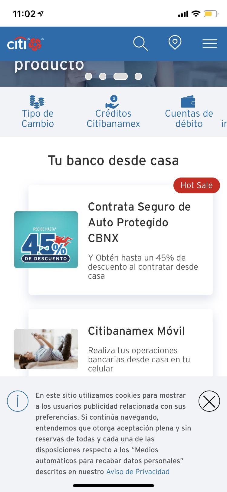 Hot Sale - Hasta 45% de descuento en seguro de auto de Banamex