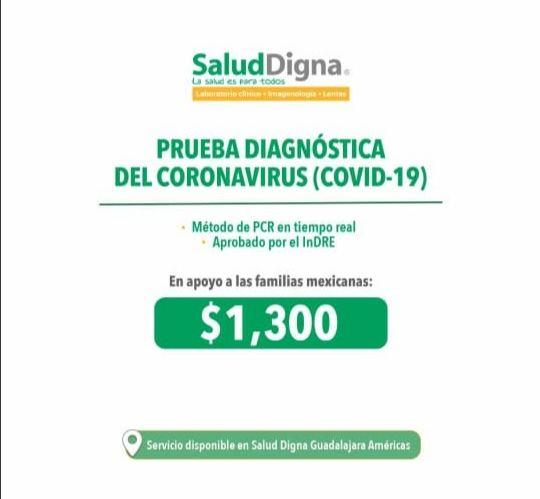 Salud Digna: Prueba de COVID-19.