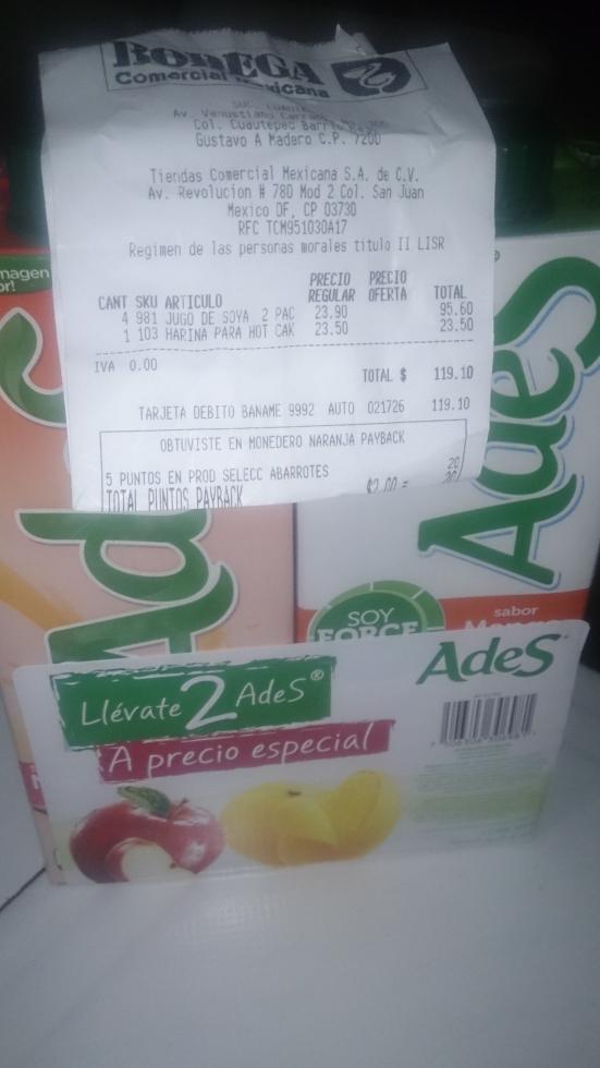 Comercial Mexicana: Jugos ADES 1 litro pack de 2