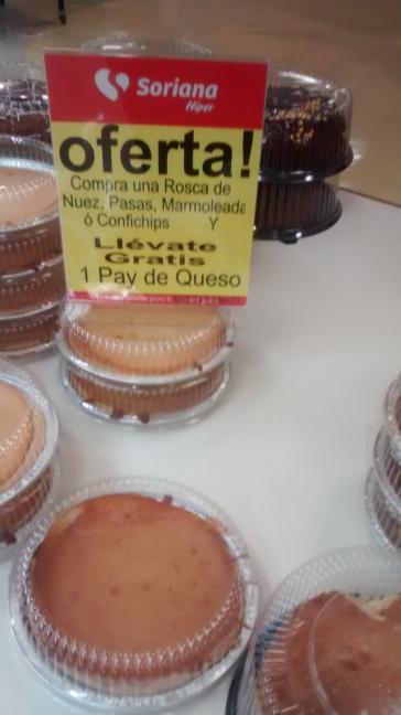Soriana: pay de queso gratis en la compra de rosca