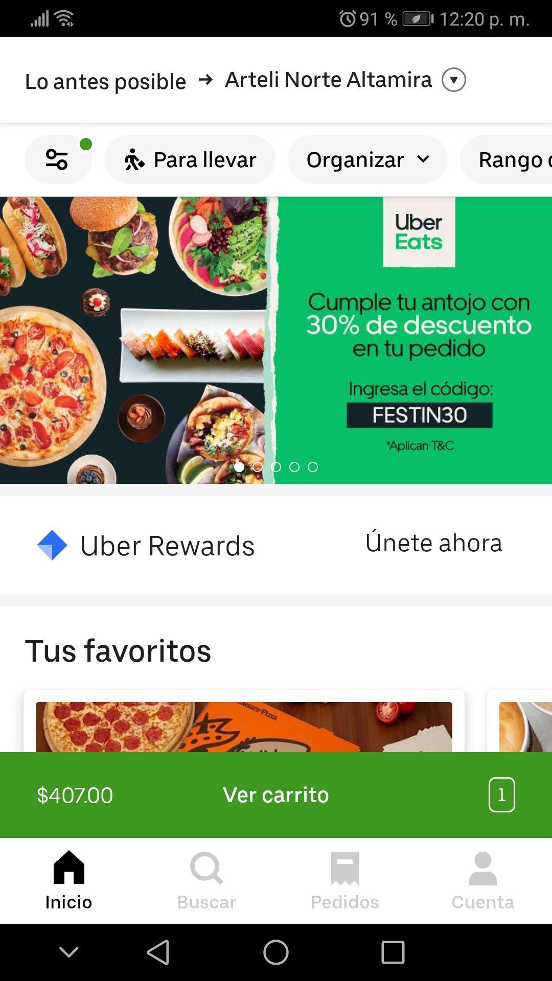 30% de descuento Uber Eats