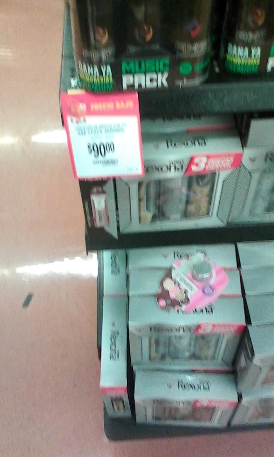 Walmart Acoxpa: Axe paquete 3 piezas y Rexona paquete 3 piezas por $90 y Old spice 2 desodorantes y 1 jabón líquido por $79.