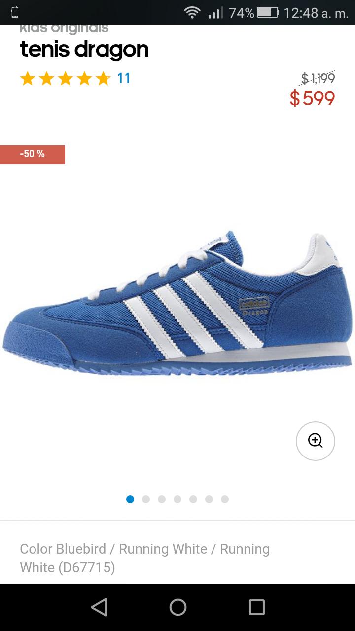 Adidas.mx: tenis Adidas Dragon a $599