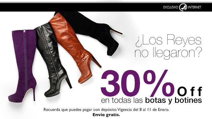 Nine West: 30% de descuento en botas y botines