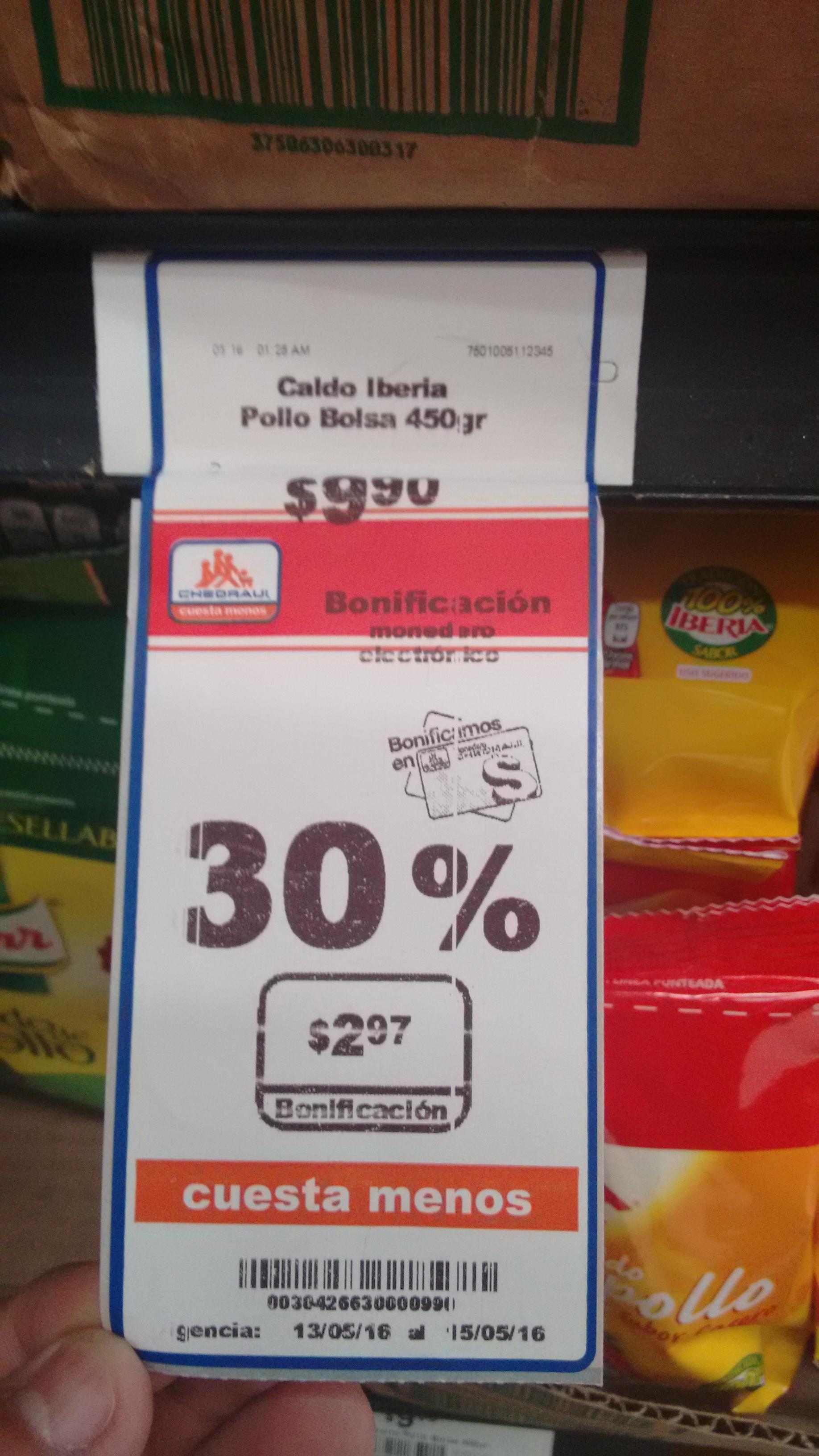 Chedraui Tenayuca: Caldo Iberia Pollo Bolsa 450gr a $9.90