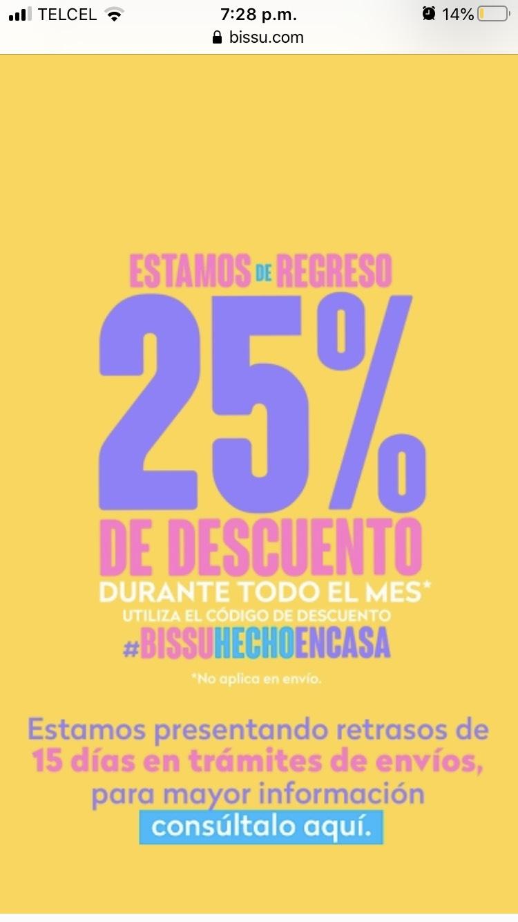 Bissú: 25% de descuento en toda la tienda