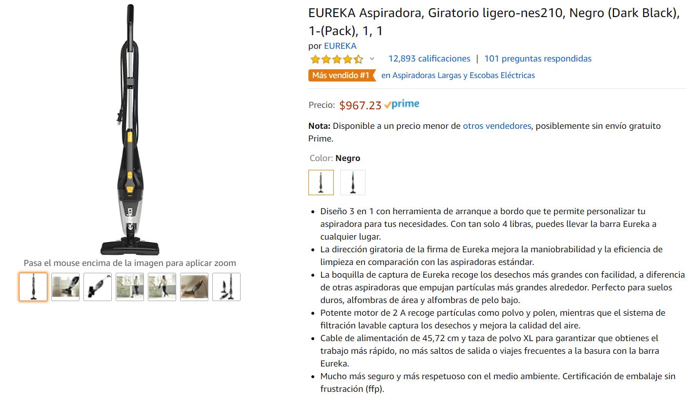 Amazon: Aspiradora Eureka [Leer Descripción]