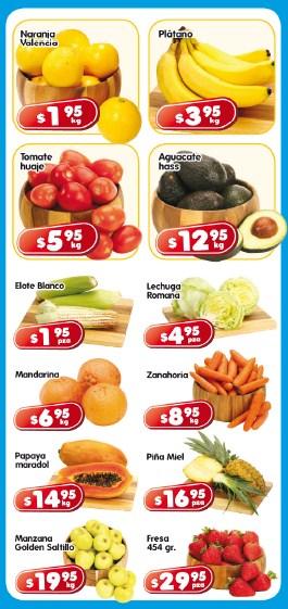 Frutas y verduras en HEB: naranja $1.95, plátano $3.95 y más