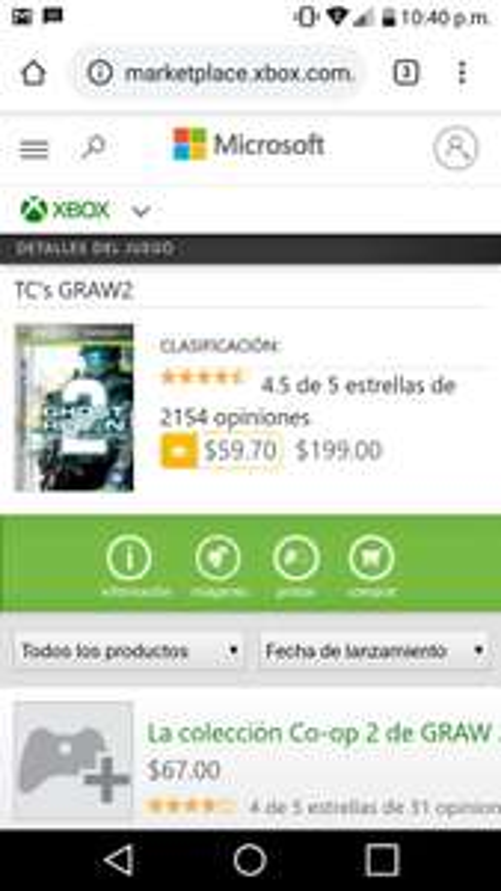 Microsoft store: Ghost Recon 2 Advanced Warfigther Retrocompatible.