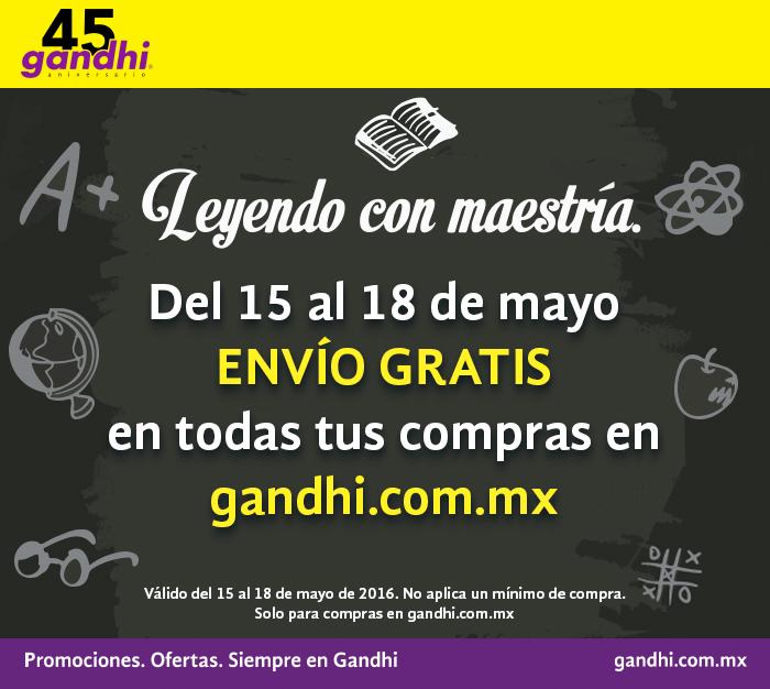 Librerías Gandhi: envío gratis al 18 de mayo