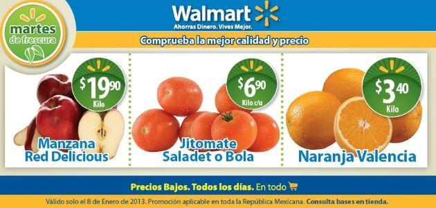 Martes de frescura en Walmart enero 8: naranja $3.50, jitomate $6.90 y más