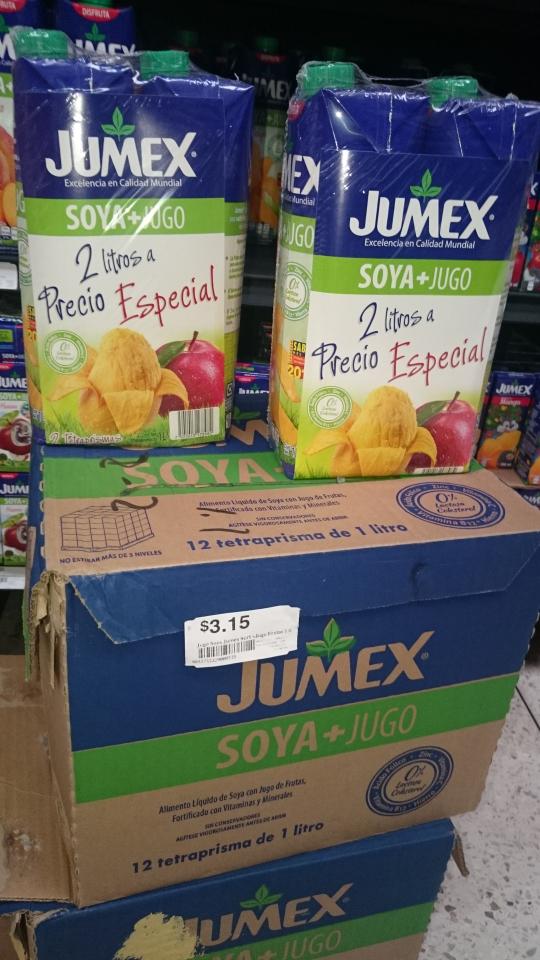 Chedraui: 2 jugos de soya Jumex Lt por $3.15