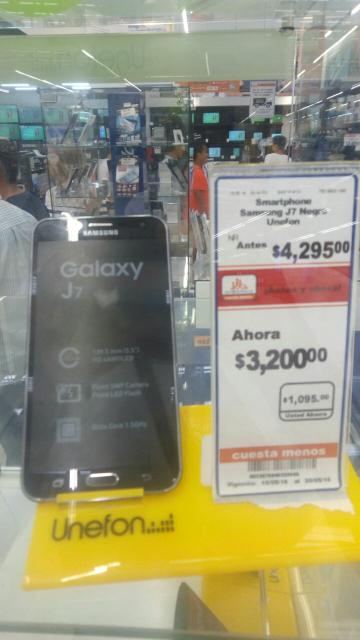 Chedraui: Samsung Galaxy j7 a $3,200