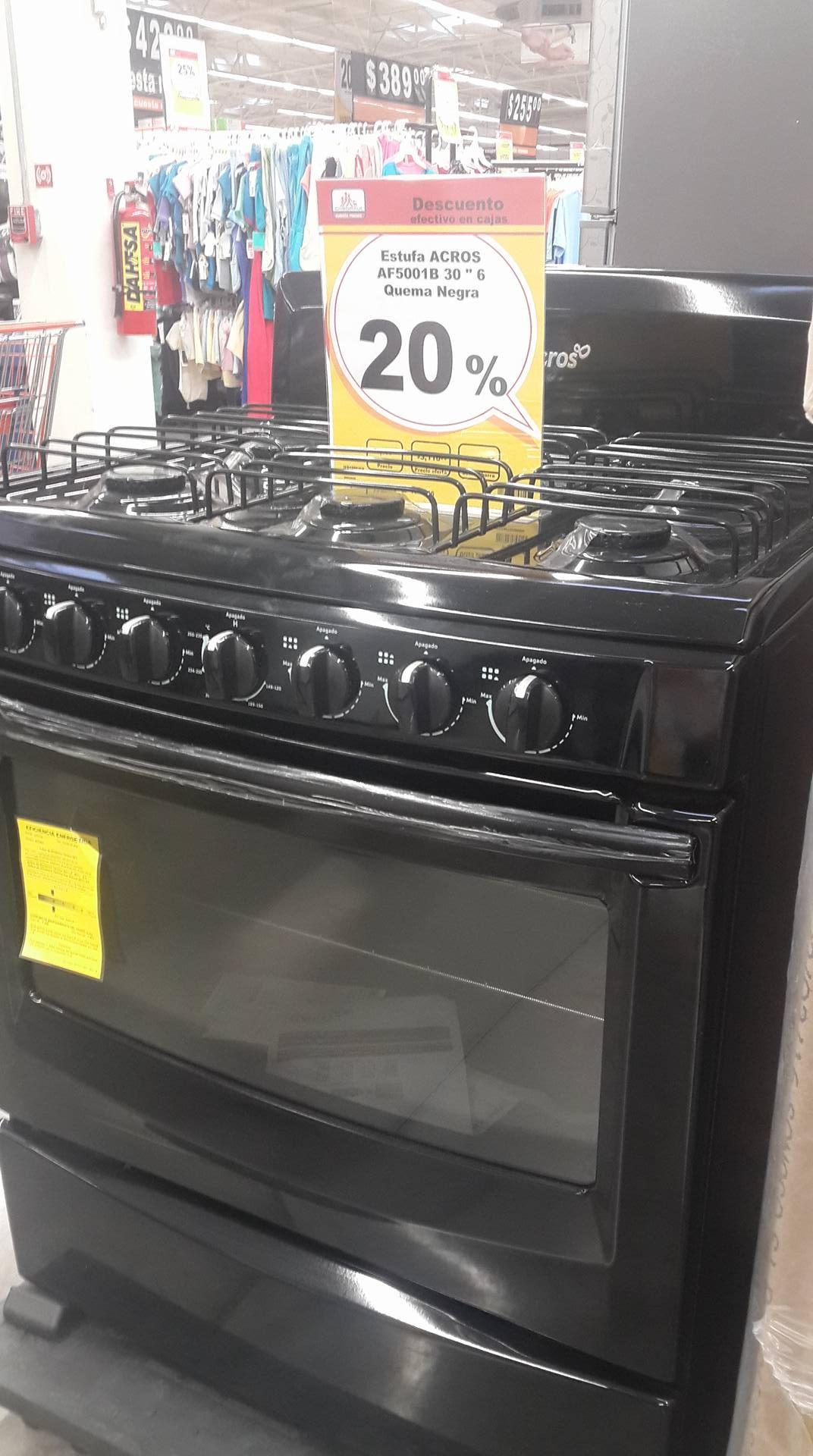 Chedraui: estufa acros de 6 quemadores en $3,110 y pantallas en oferta