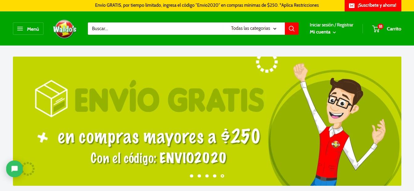 WALDO'S EN LINEA - ENVIO GRATIS A PARTIR DE $250
