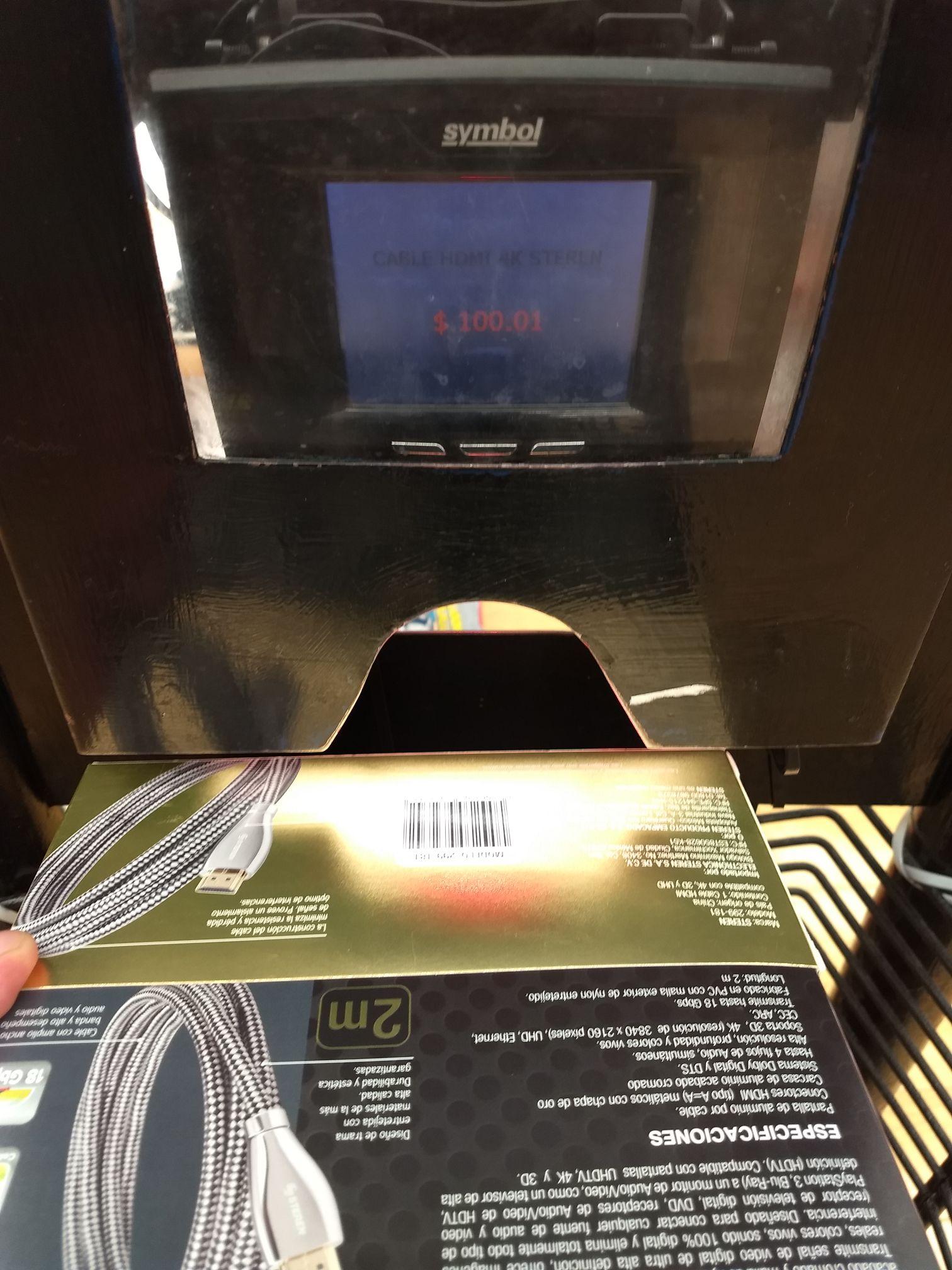 Walmart Sucursal Copilco. Cable HDMI (Steren) $100.01