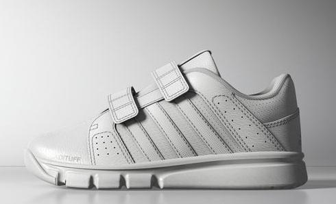 Adidas en línea: tenis BTS Class 4 Kids Training color blanco