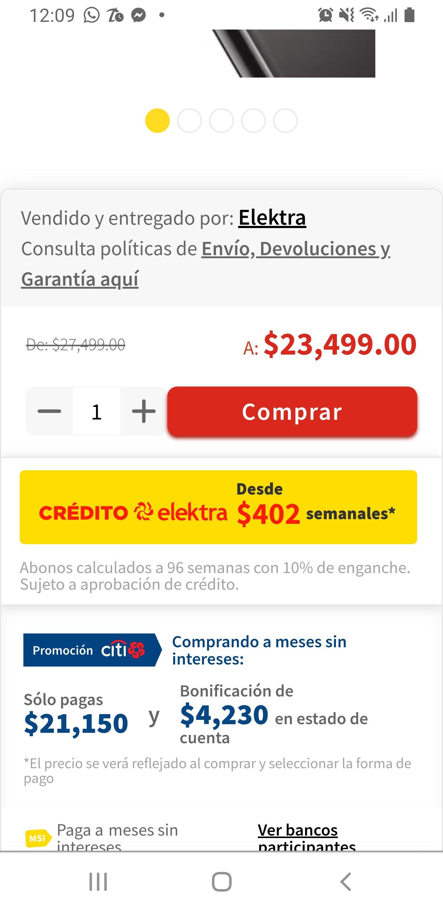 Elektra: iPhone 11 pro Max de 64 gb desbloqueado pagando con CitiBanamex o con crédito elektra