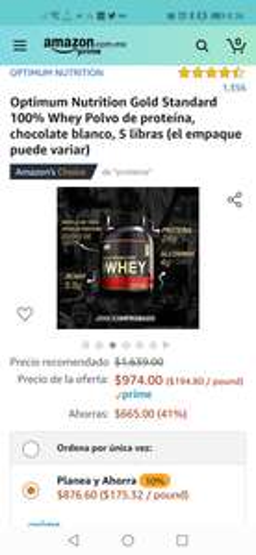Amazon: Gold Standard 100% Whey