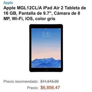 Amazon: iPad Air 2 a $6,856