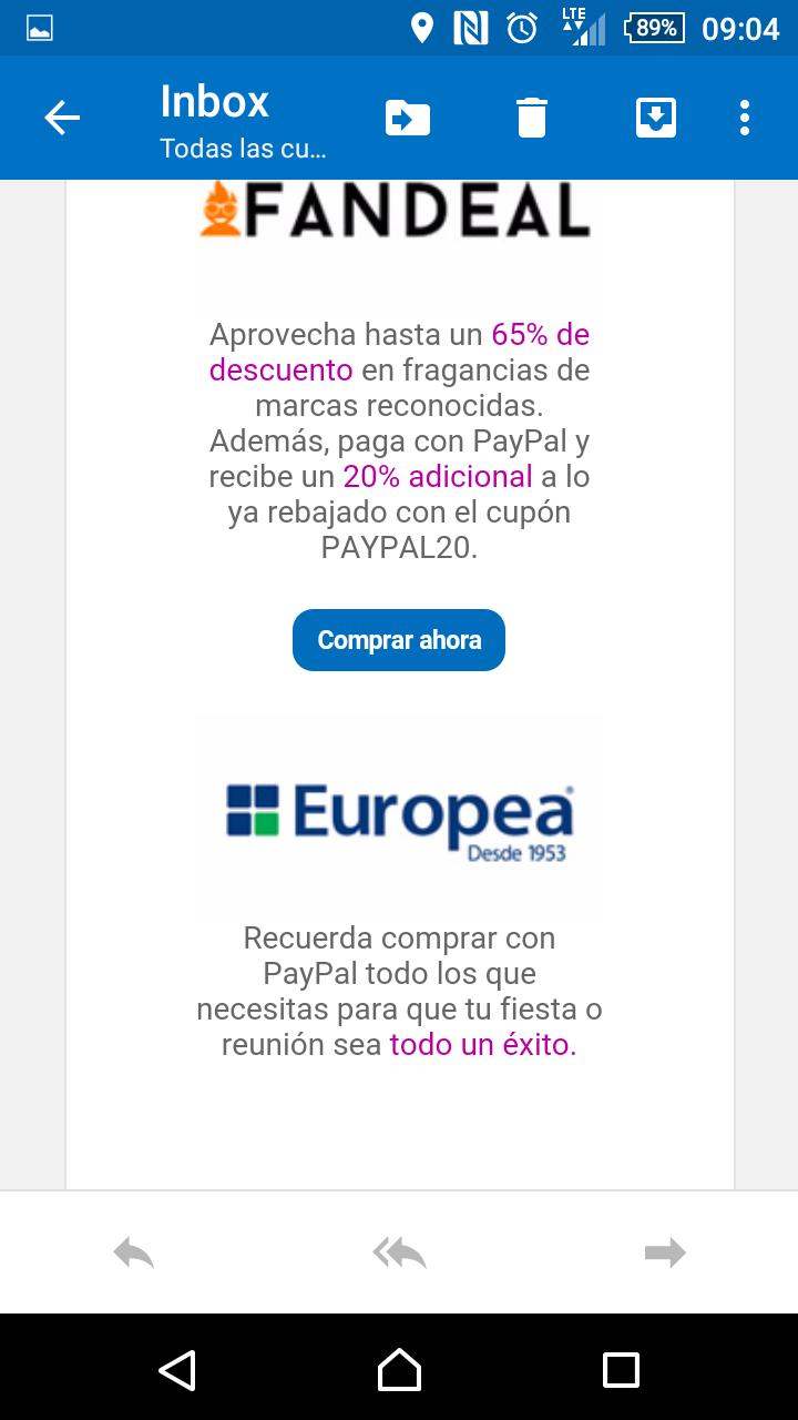 PayPal: promociones en La Europea, Fandeal, Bamboo Life y la Tienda de Frida