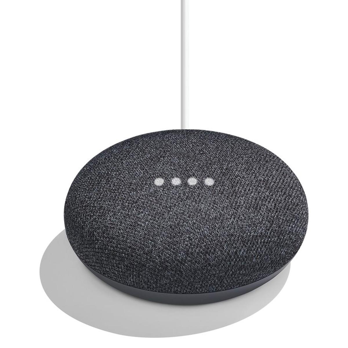 Radio Shak Google home mini negro y gris