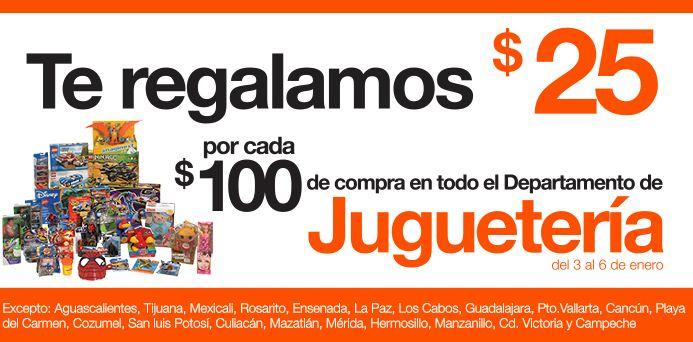 La Comer: $25 de descuento por cada $100 de compra en juguetería