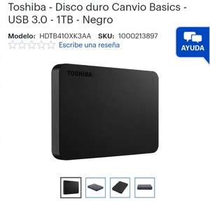 Best Buy: Disco duro externo 1 Tb Toshiba