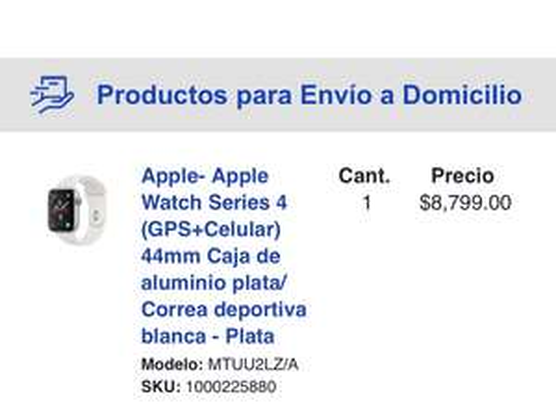 BestBuy: Apple Watch gps+celular 44mm s4 Plata con Citibanamex