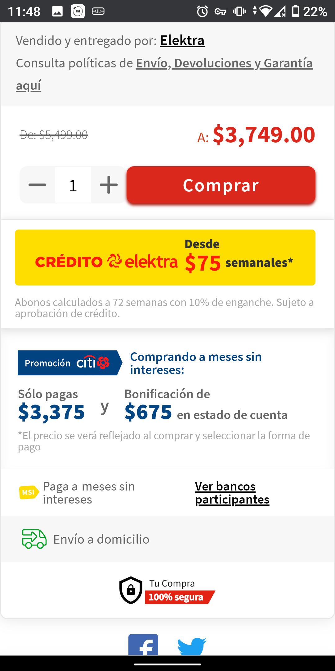Elektra: Motorola One Macro con Citibanamex