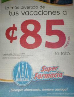 Farmacias Guadalajara: impresión de foto a 85 centavos
