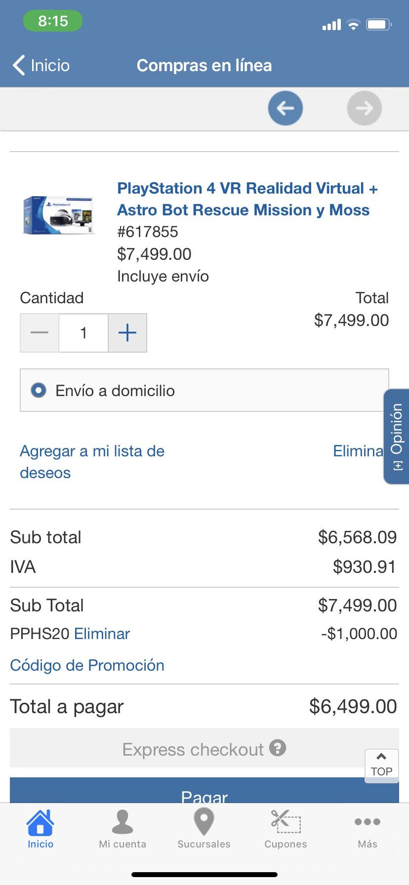 Costco: PlayStation 4 VR + Astro Bot Rescue y Moss (pagando con Citibanamex)